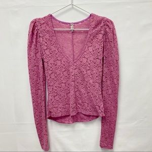 ntimately by Free People Lace Long Sleeve V-Neck